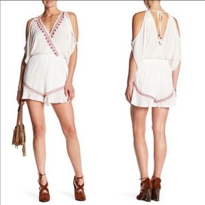 Band Of Gypsies White Embroidered Romper